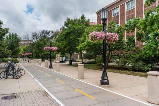 Walkable and Bike Friendly Campus - Picture of Purdue University