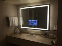TV in Bathroom Mirror - Picture of Fairmont San Jose, San ...