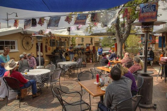 Outdoor Patio At Cowgirl Bbq With Live Band Picture Of