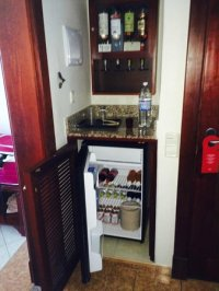 Liquor cabinet and mini bar (fridge)