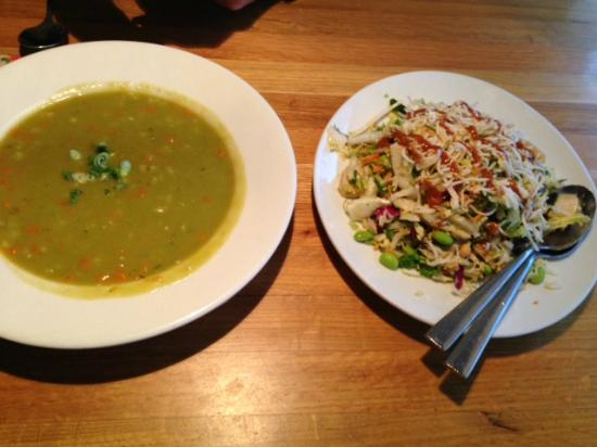 smash pea and barley soup, Thai crunch salad - Picture of California - California Pizza Kitchen Chicago