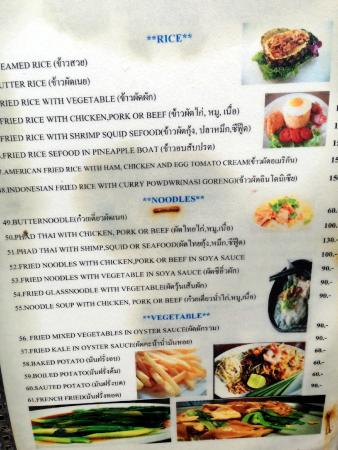 Menu - Picture of Your Place Bar, Chaweng - TripAdvisor