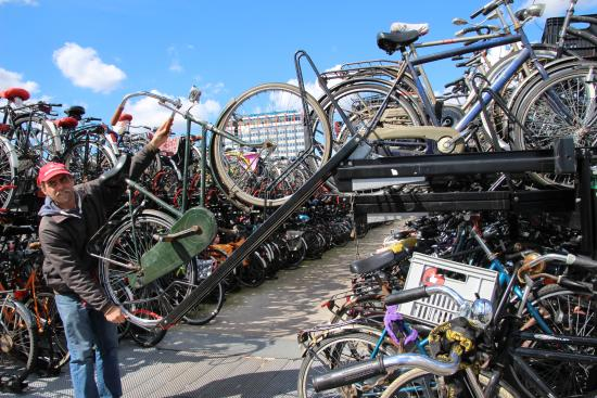 Foto De Amsterdam Urban Adventures Amsterdam Bike Rack