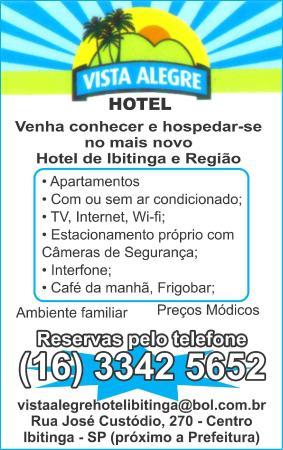 panfleto - Picture of Vista Alegre Hotel, Ibitinga - TripAdvisor