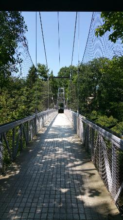 Fall In New York Wallpaper Suspension Bridge Ithaca Ny Address Attraction