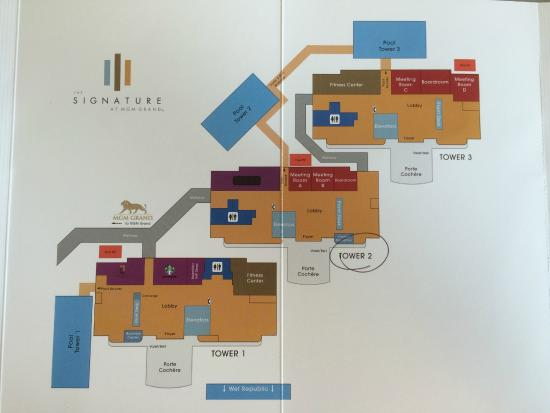 Map Of Signature Picture Of Signature At Mgm Grand Las