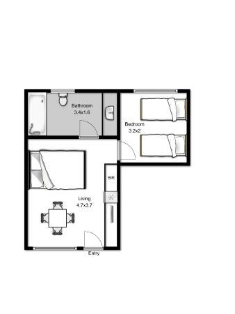 Family Suite Floor Plan - Picture of Elm Tree Motel, Warrnambool