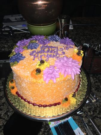 Birthday cake from Whole Foods bakery - Picture of Whole Foods