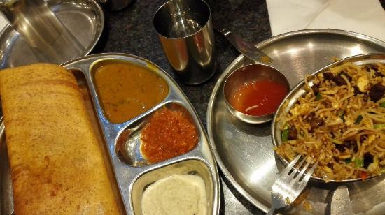 Dosa + mutton noodles - Picture of Ahaa Dosa, Hounslow - TripAdvisor