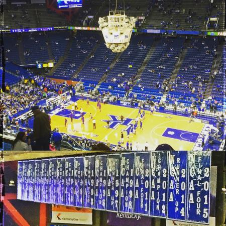 Good view of the banners and the floor! - Picture of Rupp Arena
