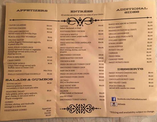 Take Out Menu Picture Of Delta39s New Brunswick