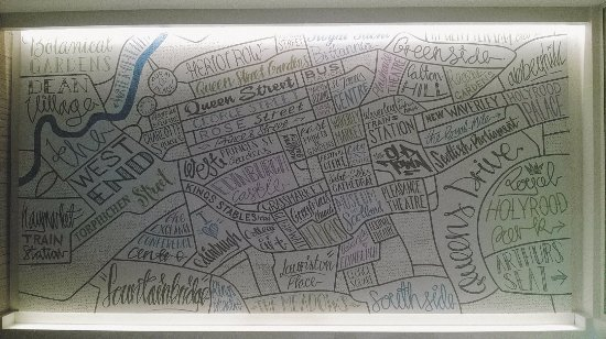 Map of Edinburgh that can be linked to the hub app to provide a
