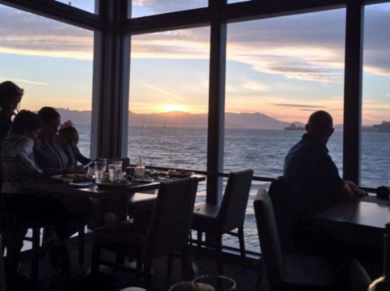Sunset view from our booth at Chart House - Picture of Chart House