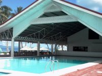 The covered side of the pool. - Bild frn Patio Victoria ...