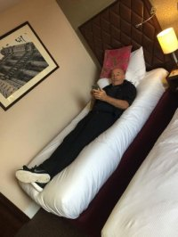 Smallest bed ever. I am only 5 foot 11 - DoubleTree by ...