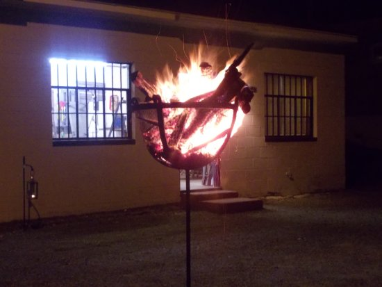 Nighttime Fall fun at the forge - Picture of The Village Blacksmith