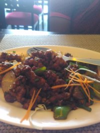 Singapore noodle and Kung po chicken... - Picture of Wangs ...