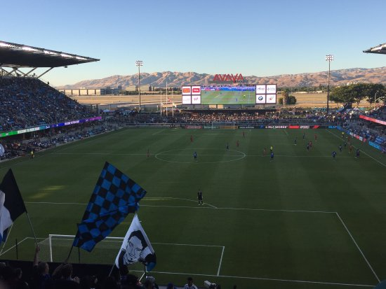 Earthquake soccer game from a suite - Review of Avaya Stadium, San