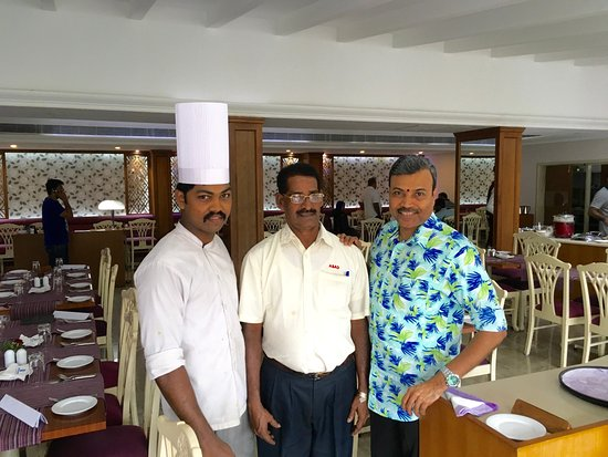 With Chef Vimal  Order Taker Thomas - Picture of Regency - Cochin - order taker