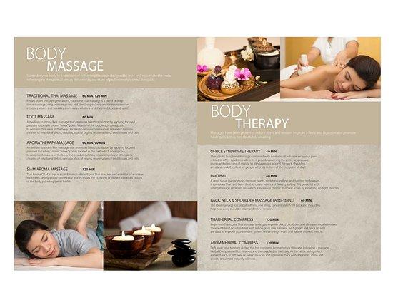 Massage Brochure Whitebear Energies - Professional Massage, Reiki - spa brochure