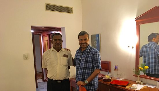 With Order Taker George - Picture of Hotel Abad Plaza, Kochi (Cochin - order taker