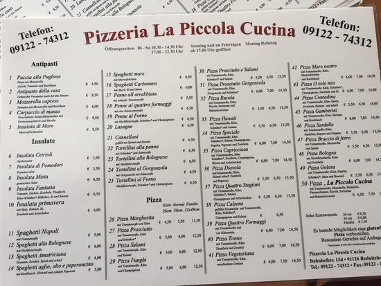 La Piccola Cucina Rednitzhembach Restaurant Reviews
