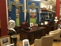 Part of Oval Office set from TV series The West Wing ...