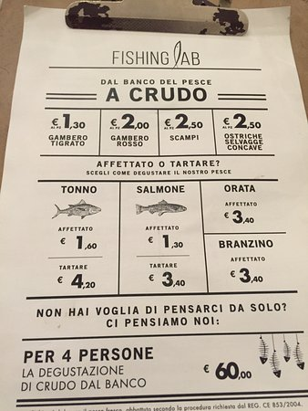 Menu - Picture of FISHING LAB Alle Murate, Florence - TripAdvisor