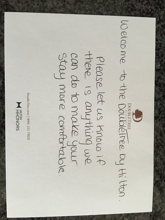 welcome letter - Picture of DoubleTree by Hilton Hotel Kamloops