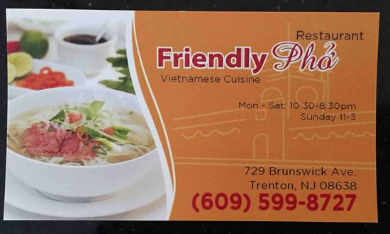 Business Card - Picture of Pho Tan Vietnamese Restaurant, Ewing