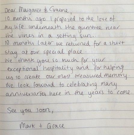 Review from our guest book - Picture of Blackwattle Luxury Retreats