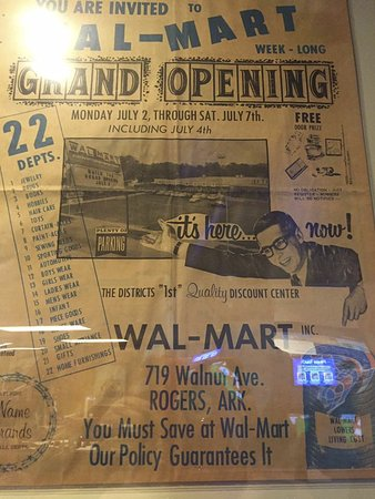 Interesting history inside the museum about Walmart - Picture of
