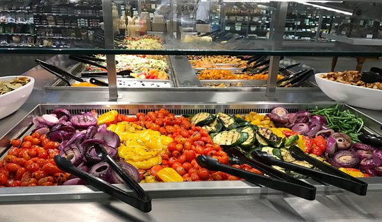 One of several salad bar tables Fresh and appealing - Picture of