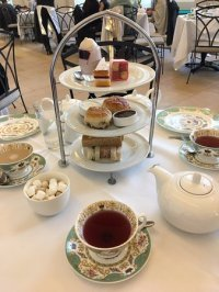 Afternoon Tea Table Setting - Picture of The Orangery ...