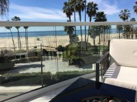 Lounge with Fire Pit Overlooking Santa Monica Beach ...