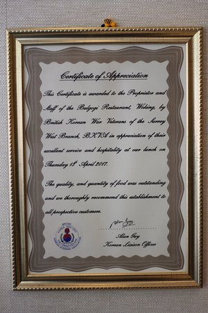 A thank you letter from British Korean War Veterans for a recent
