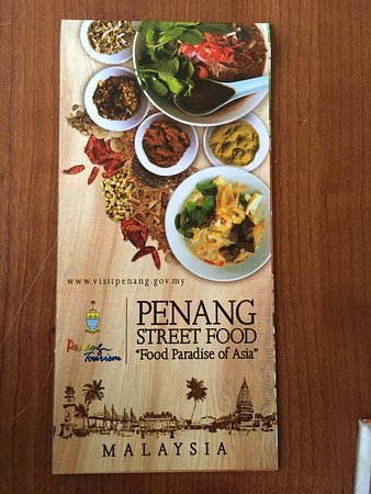 A brochure on Penang Street Food \