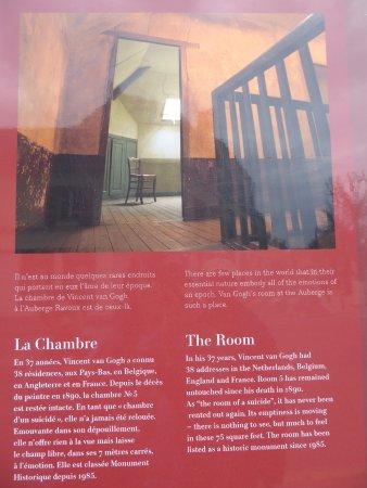 The room where van Gogh died - Picture of Maison de van Gogh, Auvers - Description De La Chambre De Van Gogh