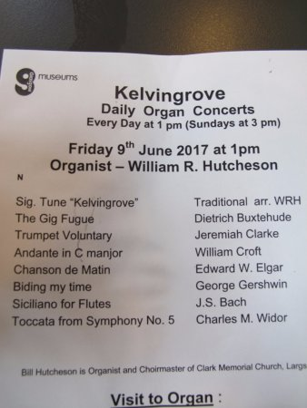 concert program - Picture of Kelvingrove Art Gallery and Museum