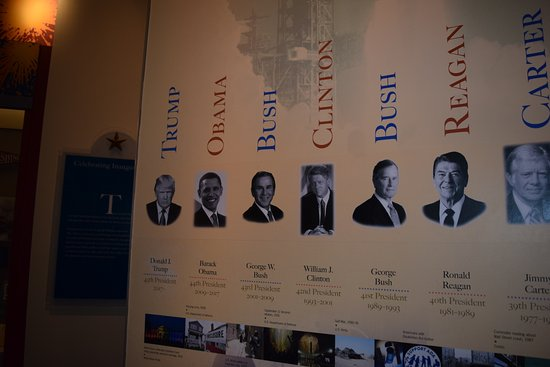 Cool timeline off all the presidents in the Hotel Harrington