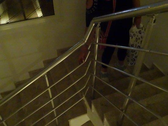 broken stair rail