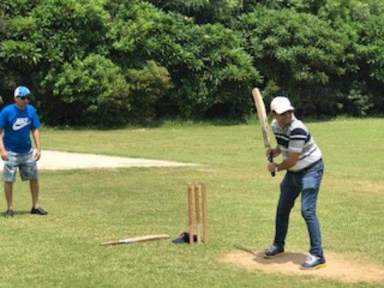 Playing Cricket - Picture of Botanix Nature Resort, Gurugram