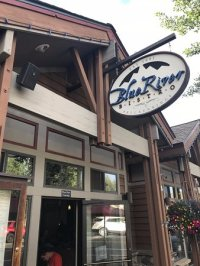 Front Entrance Sign - Picture of Blue River Bistro ...