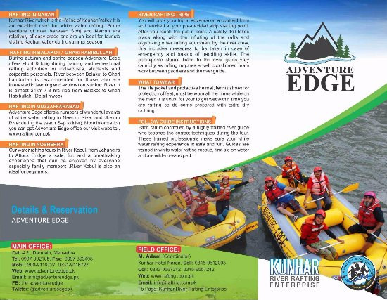 Brochures of Adventure Edge page 3 - Picture of Kunhar River Rafting