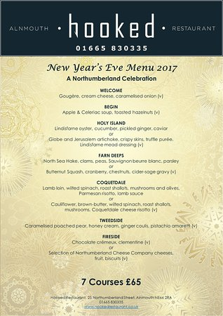 New Year\u0027s Eve menu - Picture of Hooked Restaurant, Alnmouth