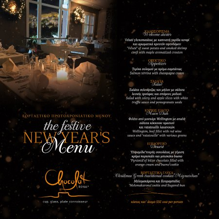 The Festive New Year\u0027s Menu - Picture of Chocolat Royal, Athens