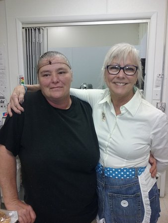 Our Hostess Teresa and prep cook Julie work hard every day to
