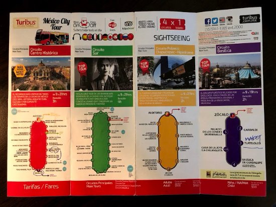 Brochure, advertisement - Picture of Turibus, Mexico City - TripAdvisor