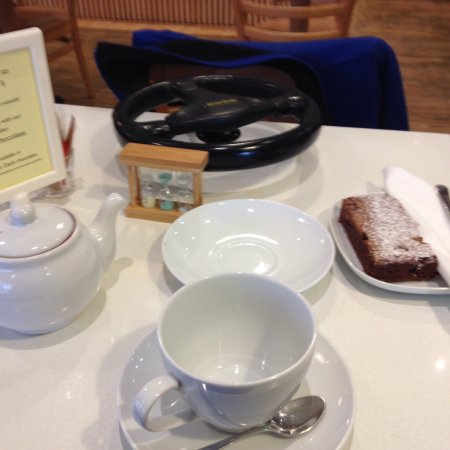 3 minute timer on English Breakfast tea and a Rolo Brownie £5 Yum