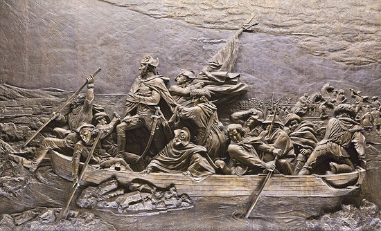 Bronze relief of \